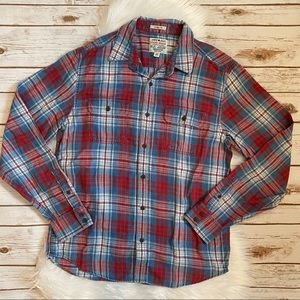 LUCKY BRAND TRUE INDIGO CLASSIC FIT FLANNEL MEDIUM